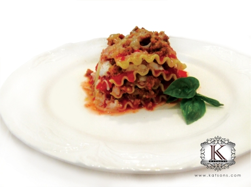 katsons chamorro sausage - lasagna